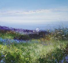 View all Amanda HOSKIN art and British artwork at Red Rag art gallery. Watercolor Ideas, Abstract Styles, Textile Patterns, Art Oil, Landscape Art, Acrylics, Seaside, Amanda, Art Gallery