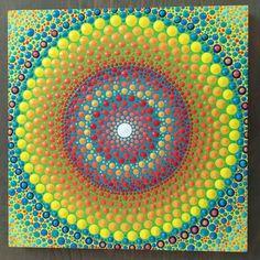 VENTA   Punto de Mandala, pintura Original   Pintado a mano de punto arte   Dotillism   Pintura de punto