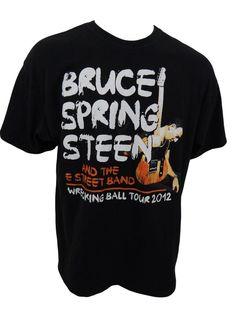 Bruce Springsteen Wrecking Ball Concert Tour 2012 Shirt Size 2XL XXL The Boss #Delta #ShortSleeve