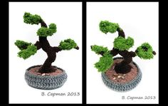 Amigurumi bonsai tree