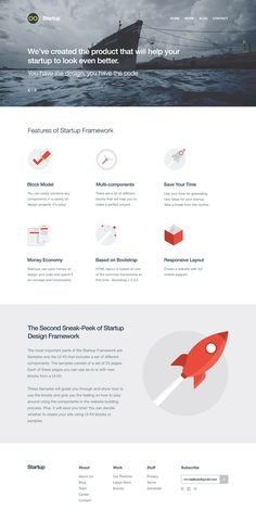 Creative One-Page Layout with Flat design - #framework #onepage #layout #webdesign #website #design #html #css #inspiration #creative
