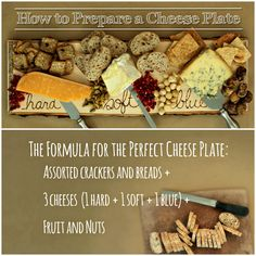 Every party needs a good cheese plate! @Marianne Canada has the only formula you need. (http://blog.hgtv.com/design/2013/11/26/how-to-make-the-perfect-cheese-plate/?soc=pinterest-blogparty)