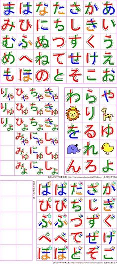 Printable katakana and hiragana chart | Japanese ...