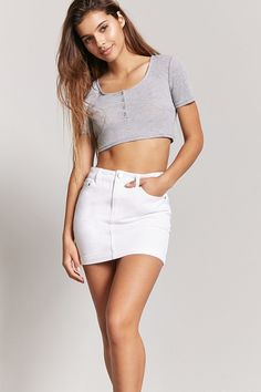 Product Name:Denim Mini Skirt, Category:bottom_jeans, Price:15.9