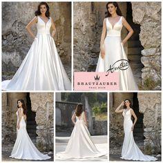 Pure Eleganz Formal Dresses, Wedding Dresses, One Shoulder Wedding Dress, Satin, Fashion, Dresses For Formal, Bride Dresses, Moda, Formal Gowns