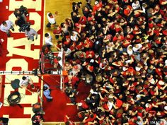 N.C. State Student In Wheelchair Gives Account Of Storming Court After Win Vs. Duke  #basketball #fans #wheelchair