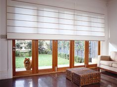 Option for blinds over sliding door