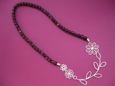 WOW! Silver filigree necklace by ALexandra Ivanova.