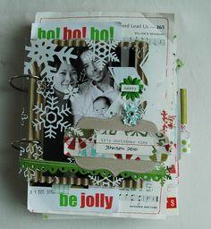 Eve Johnson's Christmas 2010 art journal Originally pinned by Christine Newman onto Mini Books.