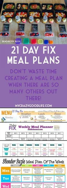 You don't have to spend hours creating a meal plan for the 21 Day Fix when there