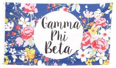 Gamma Phi Beta Floral Flag 3' x 5' by GreekLifeStuff on Etsy