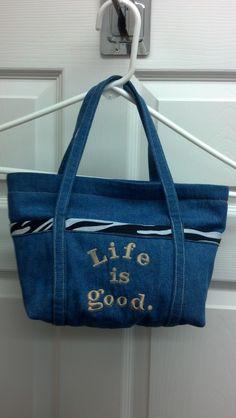 Zipper top purse made for Granddaughter