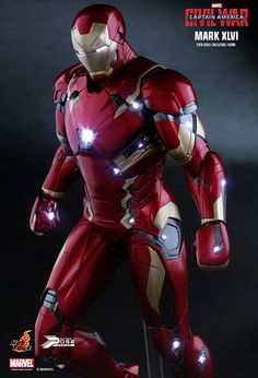 Captain America Civil War Iron Man Mark XLVI by Hot Toys - The Toyark - News