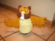 owl puppet Puppets, Owl, Crochet Hats, Knitting Hats, Owls, Dolls, Hand Puppets