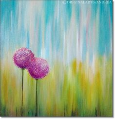 Paisaje pintura Original acrílico de arte abstracto con
