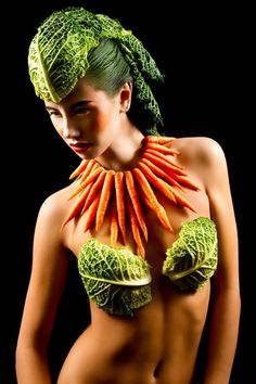 Food Inspired Make-up & Hair Designs by Karla Powell, via Behance #foodfashion #foodart