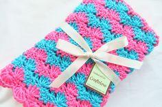 Crochet baby blanket  Baby Girl Blanket Turquoise by craftolove, $36.99