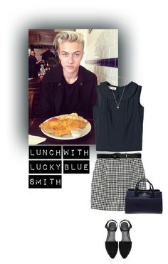"""""""Lunch With Lucky Blue Smith"""" by tasniaisacutie666 ❤ liked on Polyvore featuring Marni, Monki, Lauren Ralph Lauren, Michael Kors and Chanel"""