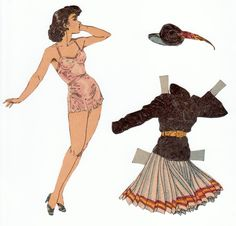 The Paper Collector: Gloria paper doll by Charlotte Ware c. 1937