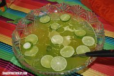 Tart and sweet, this non-alcoholic Maybe Margarita Punch is the perfect party punch for Cinco de Mayo or even just taco Tuesday!