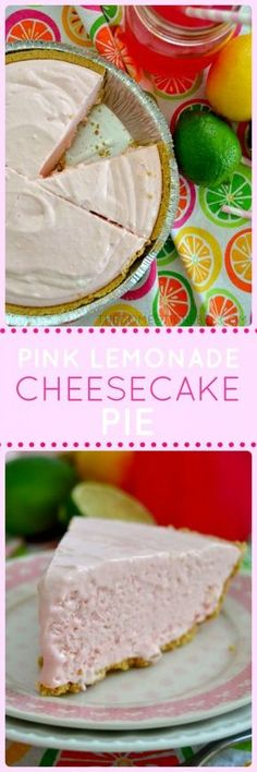 This Pink Lemonade Pie is a light and creamy delightful cheesecake that's equal parts sweet, tart, and totally refreshing. Pink Lemonade Cheesecake, Cheesecake Pie, Cheesecake Recipes, Pink Lemonade Cookies, Desserts Rafraîchissants, Dessert Recipes, Yummy Treats, Sweet Treats, Yummy Food