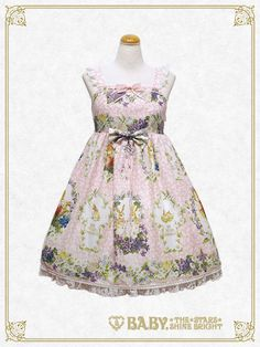 Baby, the stars shine bright Happy Easter〜Easter Bunny's Spring Garden〜Chest ribbon jumper skirt