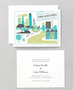 Visit Philadelphia Save the Date Card