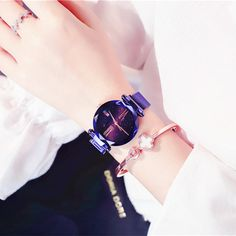 DEFFRUN Fashion Quartz Wristwatch Magnet Scrub Star Roman Number Dial Stainless Steel Strap Watch for Women is hot-sale, waterproof watches, bracelet watch, and more other cheap women watches are provided on NewChic. Swiss Army Watches, Waterproof Watch, Kids Jewelry, Women Jewelry, Cool Watches, Trendy Watches, Ladies Watches, Women's Watches, Quartz Watch