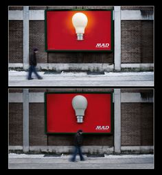 Creative Outdoor Ads #outdoors #advertising #bulbs