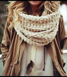 Casual fall look with scarf and jacket