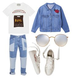 """Untitled #31"" by frid1445 on Polyvore featuring Gucci, House of Holland and Ray-Ban"