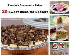 Parade's Community Table ~ 20 Sweet Idea for Dessert