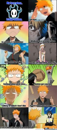 I will forever repin this...btw that is one of the scariest stranger faces I have ever seen...RUN ICHIGO -Bleach