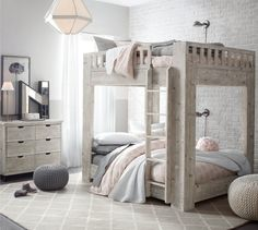 Callum Bunk Bedroom : Whether your kids are sharing a room or you just want extra space for the occasional slumber party, the Callum Bunk Bed ($1,799-$1,999) takes stacked sleeping accommodations to an entirely new level. The platform-style bed is available in twin or full size and has a solid, modern look that will transform your tots bedroom — and make it a whole lot more fun.