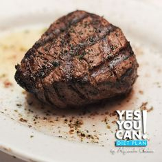 Filet Mignon with Fresh Herb and Garlic Rub - A healthy option for your Yes You Can! Diet Plan dinner