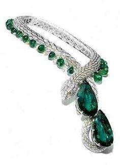 Emerald Cartier snake necklace