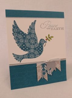 calm christmas stampin up cards | Calm Christmas Banner