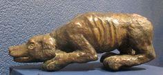 Cane che punta cm 28 x 48 x 9 Bronzo Anno 1995