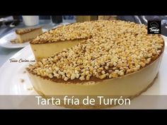 Tarta de TURRÓN (sin Horno) rápida y fácil - YouTube