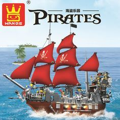 (32.41$)  Watch here  - Model building kits compatible with legoPirates ship black beard 3D blocks Educational model building toys hobbies for children