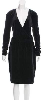 Black By Malene Birger knee-length cocktail dress featuring glitter accents throughout, plunging neckline, long sleeves and dual slit pockets at front. Forever Bright Toothgel, Knee Length Cocktail Dress, Malene Birger, Plunging Neckline, Cocktails, Black Leather, Tags, Formal Dresses, Long Sleeve