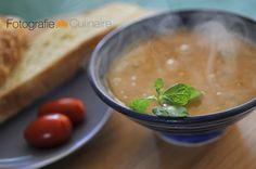 Turkish bridal soup with bulgur and mint
