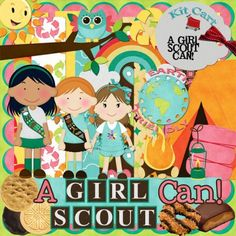 Girl scout, brownies and daisys digital scrapbook kit