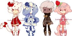 Cupcake Themed Adoptables Batch 10: CLOSED by Zombutts on DeviantArt