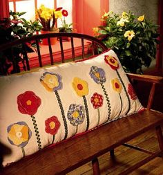 awesome applique pillow