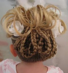This will be my daughters hair for her next gymnastics meet!