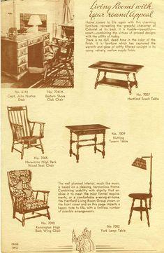 Cushman furniture catalog from 1937