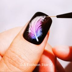 9 Best Nail Design Ideas of 2019 - The Latest Nail Art Trends - Nail Arts - Nageldesign Nail Art Hacks, Nail Art Diy, Cool Nail Art, Diy Nails, Swag Nails, New Nail Art, Nail Nail, Nail Art Designs Videos, Nail Design Video