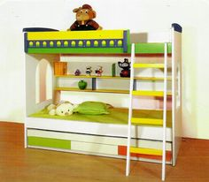 """Bunk Bed Model 3001  Dimensions: Twins bed:  Upper mattress 75""""x39"""" Lower mattress 75""""x47""""  Colour Options 1) White and Blue 2) White and Pink  Price : Rs.59,500/-  Mattress is extra. Please email for prices. Please confirm for exact delivery time. visit http://kidsfurnitureworld.in/bunk-beds.html"""