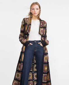 There are unique jacket, yes it's DIY Crochet Granny Square Jacket Cardigan Free Patterns Inspirations that will enhanced you styles. Crochet Coat, Crochet Fall, Crochet Jacket, Crochet Cardigan, Long Cardigan, Crochet Clothes, Zara, Diy Crochet Granny Square, Knooking